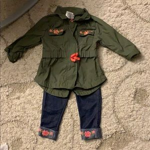 Jegging and Jacket Outfit 12 months